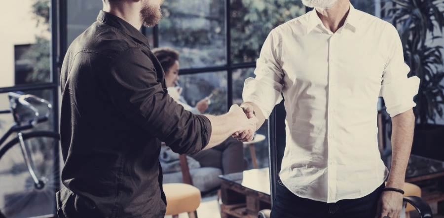 Two Men Shaking Hands and Making a Deal
